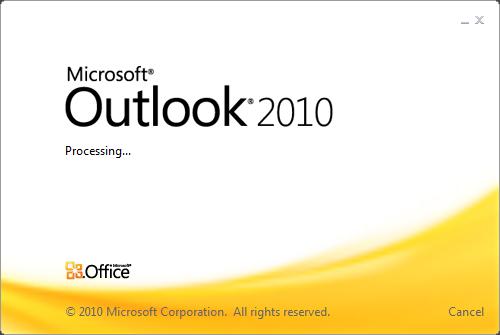 outlook2010 startup logo